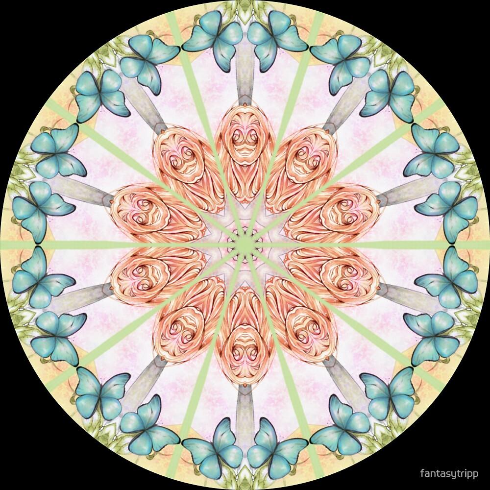 Butterflies in Summer Kaleidoscope 02 by fantasytripp