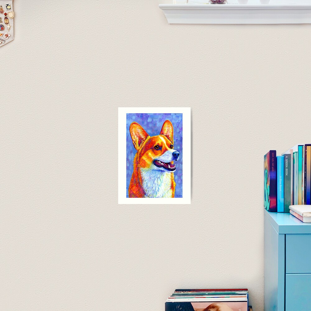 Mischief Maker - Colorful Pembroke Welsh Corgi Dog Art Print
