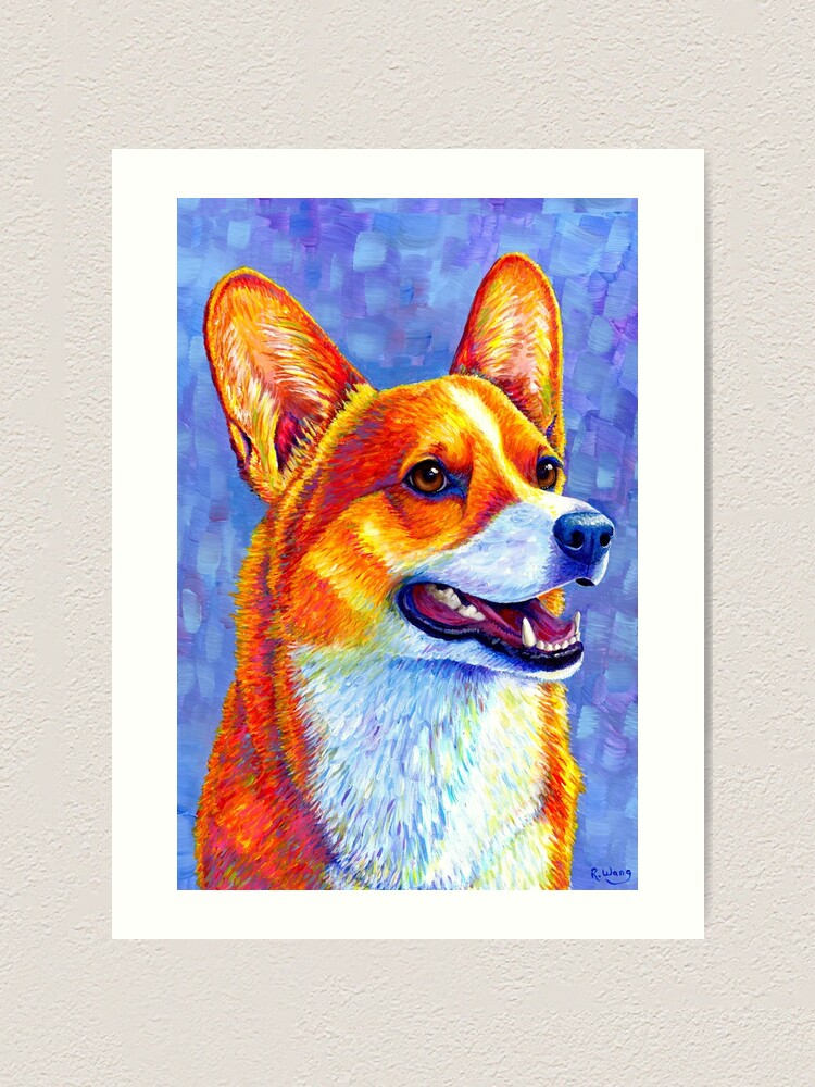 Alternate view of Mischief Maker - Colorful Pembroke Welsh Corgi Dog Art Print