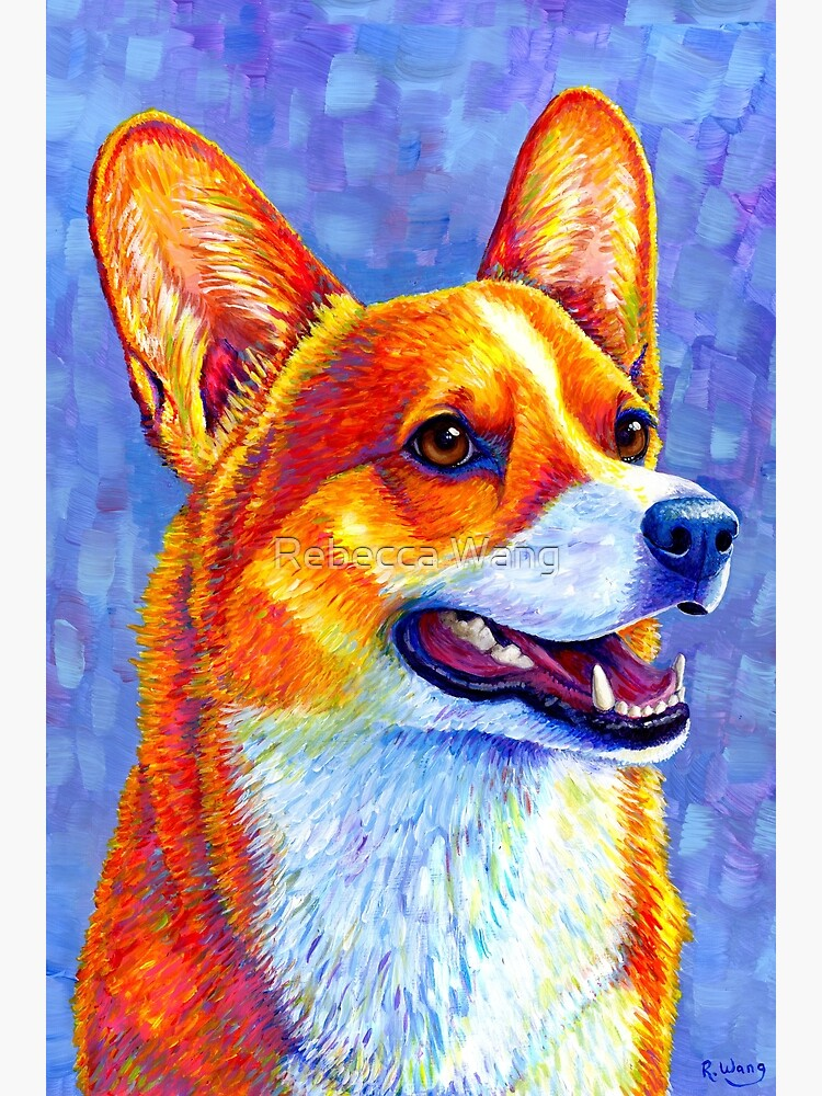 Mischief Maker - Colorful Pembroke Welsh Corgi Dog by lioncrusher