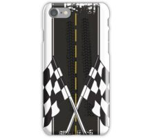 Racing flag and road - case iPhone Case/Skin
