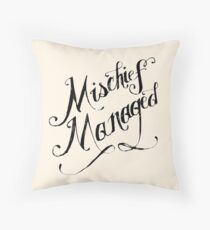 Mischief Managed Throw Pillow