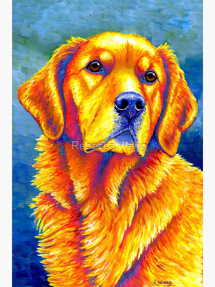 Faithful Friend - Colorful Golden Retriever Dog by lioncrusher