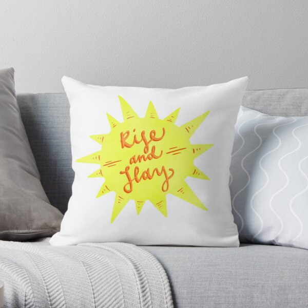Rise and Slay Throw Pillow