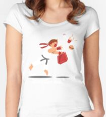 Dropped Combo Women's Fitted Scoop T-Shirt