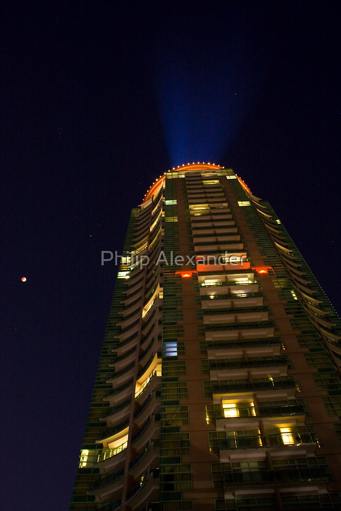 Hotel at night by Philip Alexander