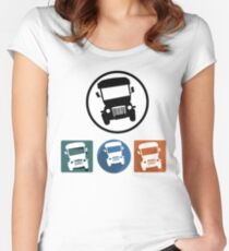 Jeepney icons Women's Fitted Scoop T-Shirt