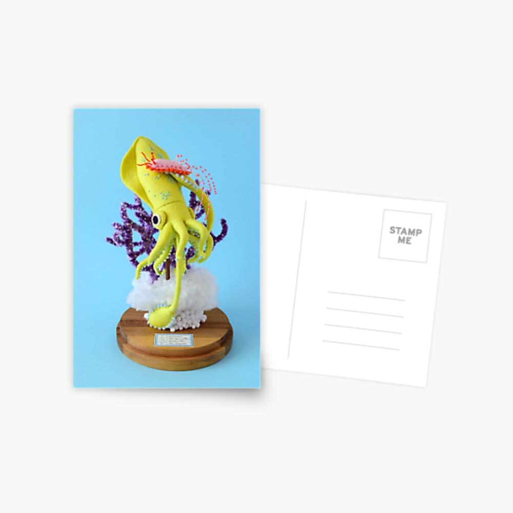 Baby Squid & Long-tailed Sea Slug Postcard