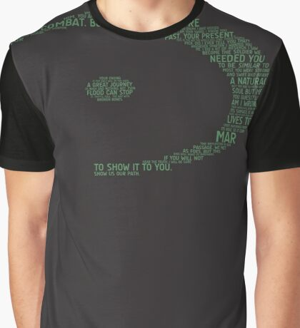 Halo Typography [Green] Graphic T-Shirt