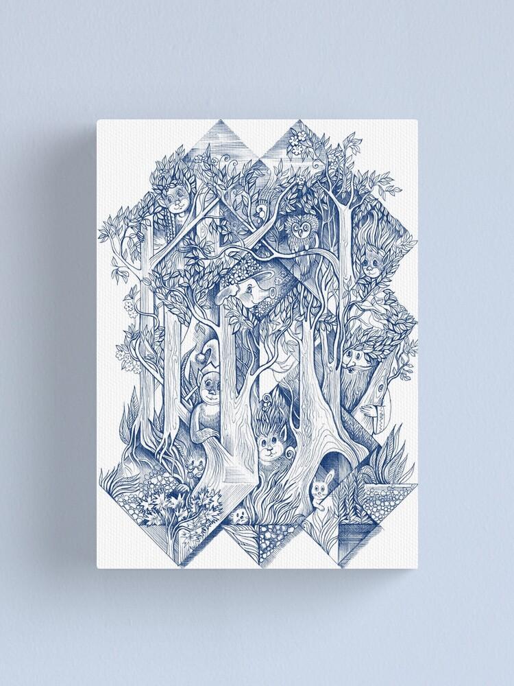 Alternate view of Jungle hide-and-seek Canvas Print