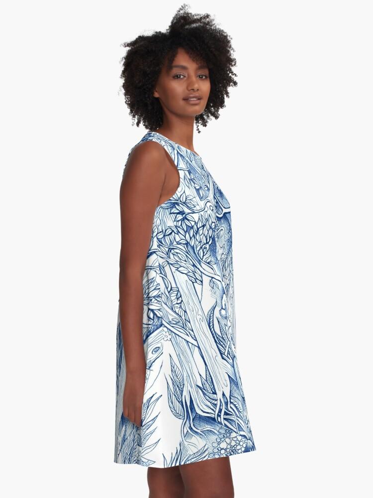 Alternate view of Jungle hide-and-seek A-Line Dress