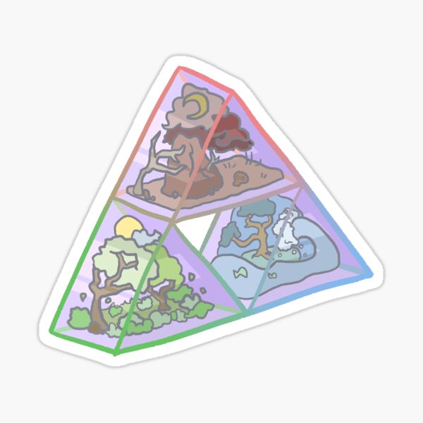 Triforce terrarium Sticker