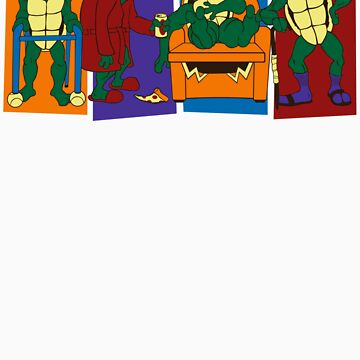Elderly Mutant Retired Turtles by jcthomason
