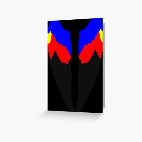Angel Bird Wings in Polyamorous Pride Flag Colors Greeting Card