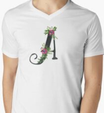 Letter A with Floral Wreath T-Shirt
