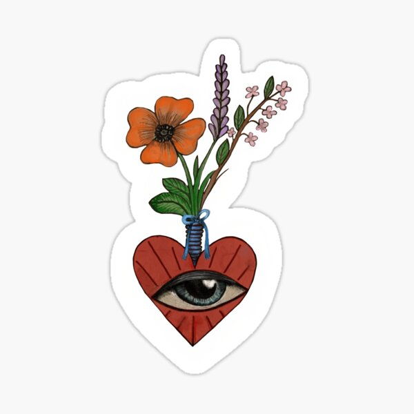 Heart and flowers  Sticker