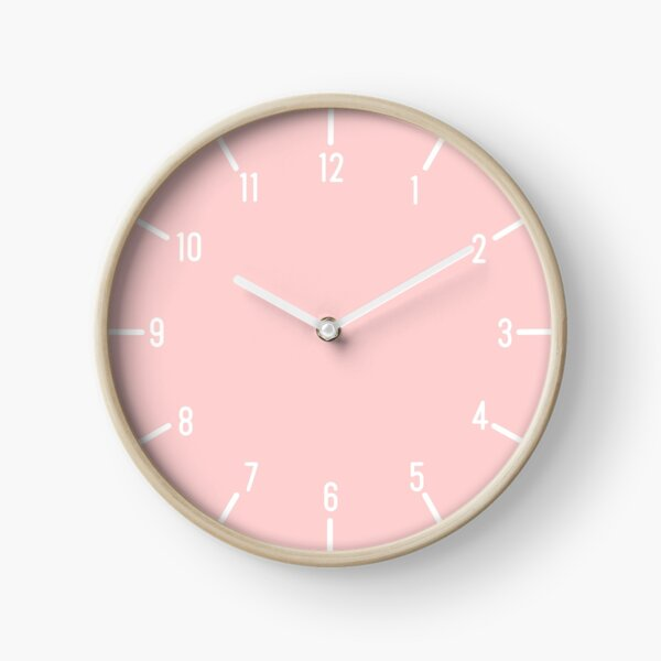 basic pink clock Clock