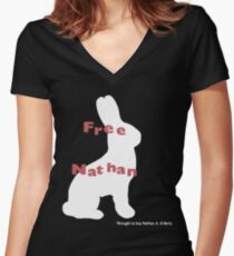 Free Nathan Women's Fitted V-Neck T-Shirt