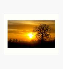 A Norfolk Sunrise Art Print