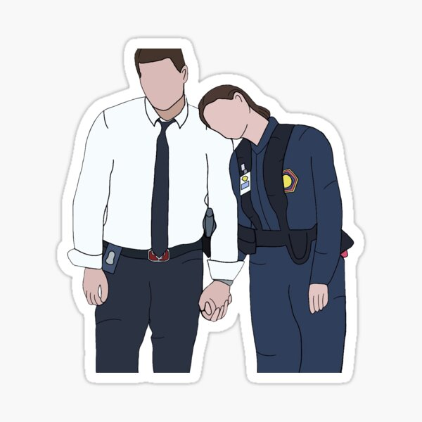 Booth y Brennan Pegatina