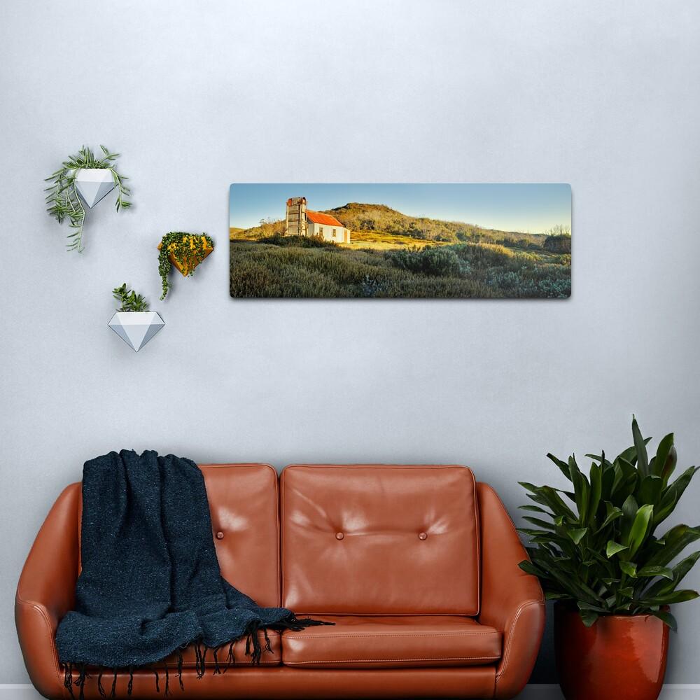 Spargos Hut Dawn, Mount Hotham, Victoria, Australia Metal Print