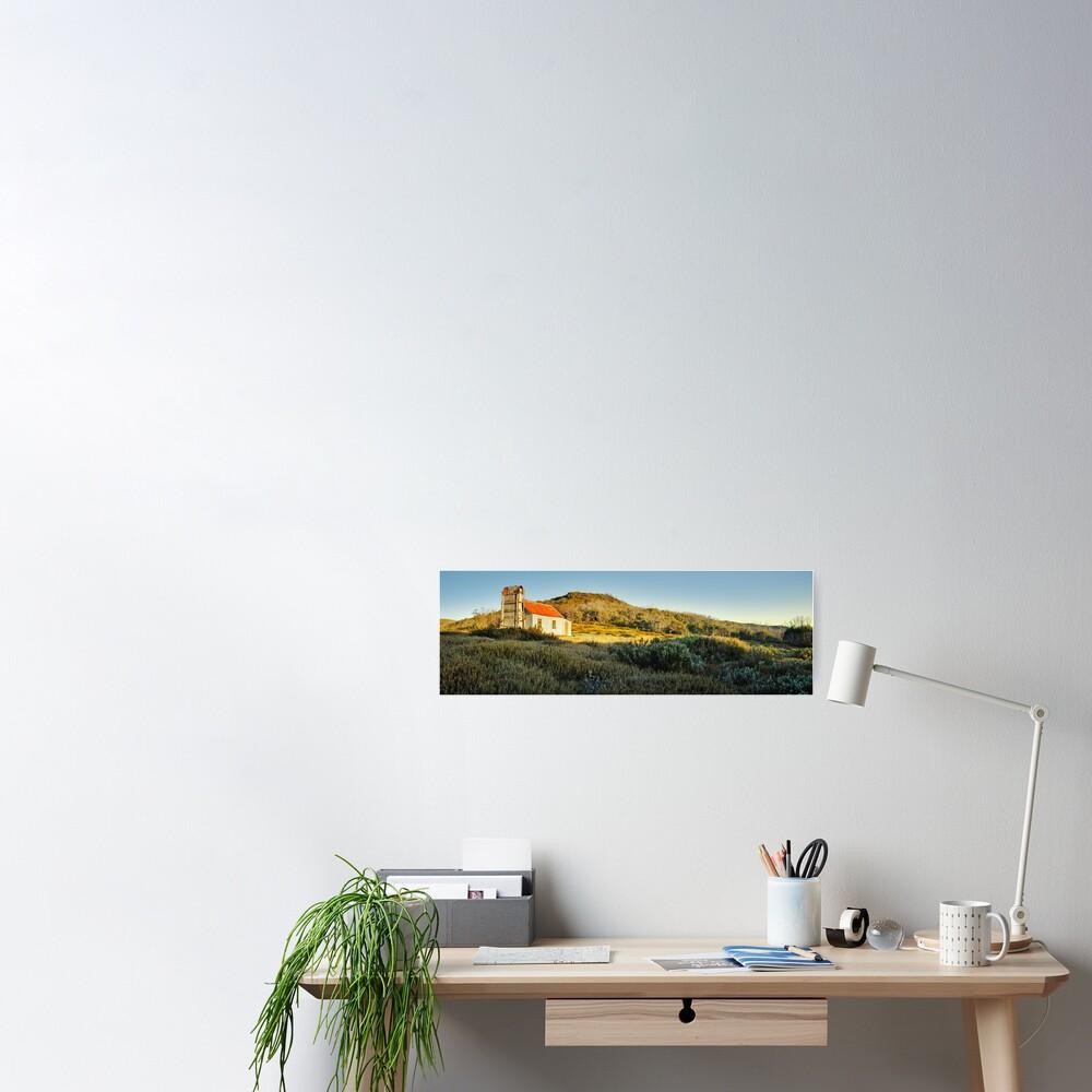Spargos Hut Dawn, Mount Hotham, Victoria, Australia Poster