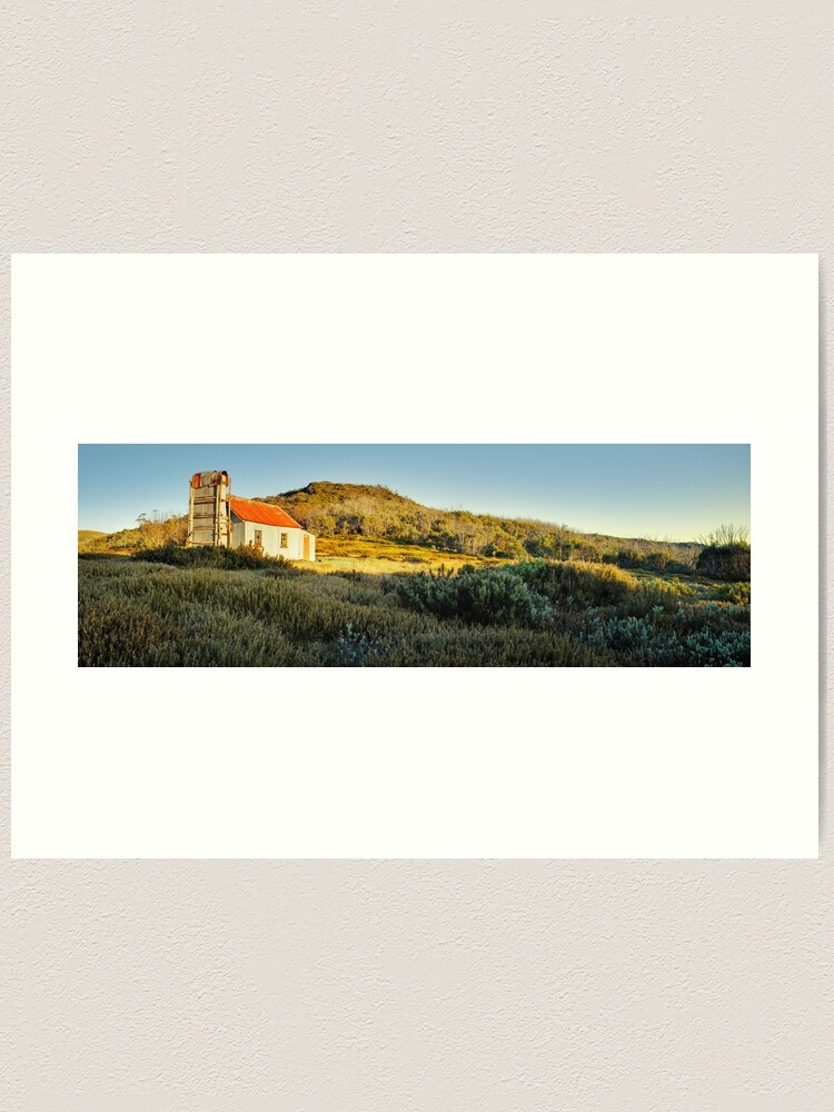 Alternate view of Spargos Hut Dawn, Mount Hotham, Victoria, Australia Art Print