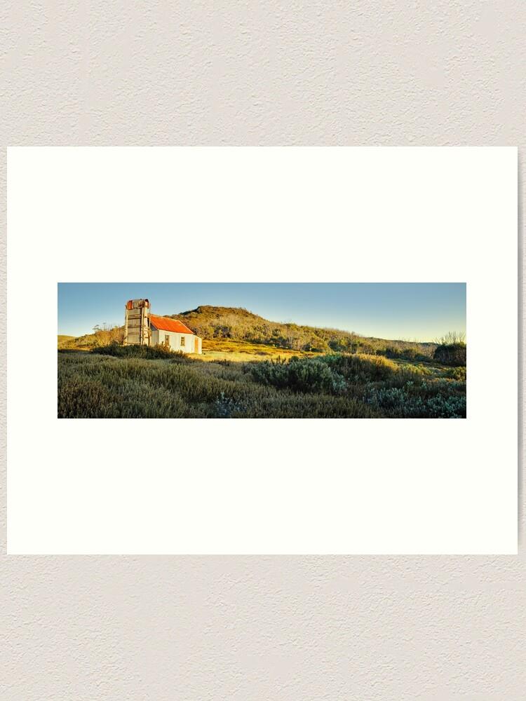 Alternate view of Spargos Hut Dawn, Mount Hotham, Victoria, Australia Art Print