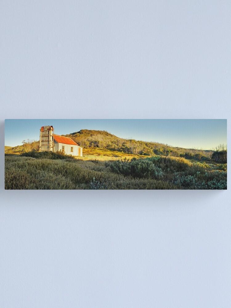 Alternate view of Spargos Hut Dawn, Mount Hotham, Victoria, Australia Canvas Print