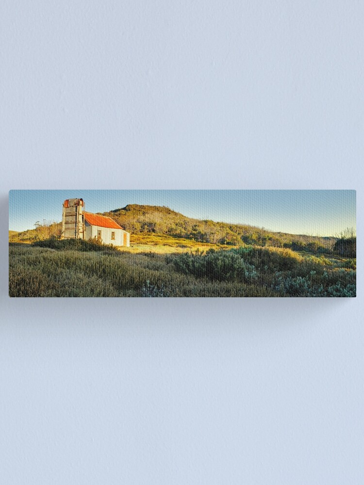 Alternate view of Spargos Hut Dawn, Mount Hotham, Victoria, Australia Canvas Print