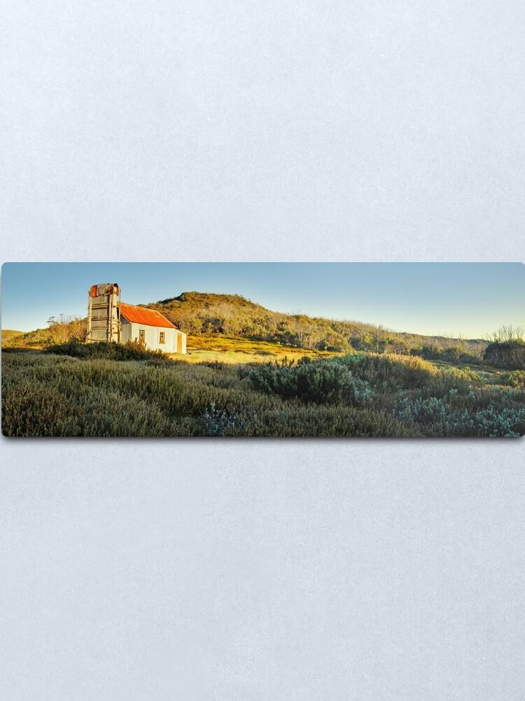 Alternate view of Spargos Hut Dawn, Mount Hotham, Victoria, Australia Metal Print
