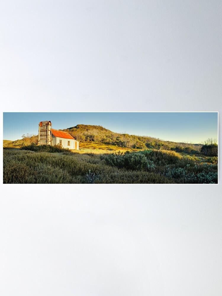 Alternate view of Spargos Hut Dawn, Mount Hotham, Victoria, Australia Poster