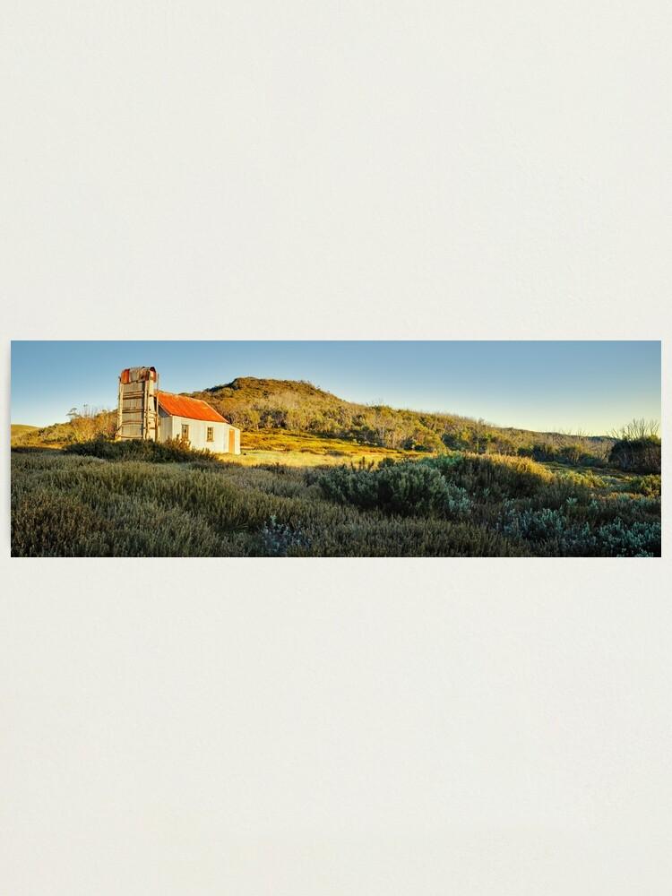 Alternate view of Spargos Hut Dawn, Mount Hotham, Victoria, Australia Photographic Print