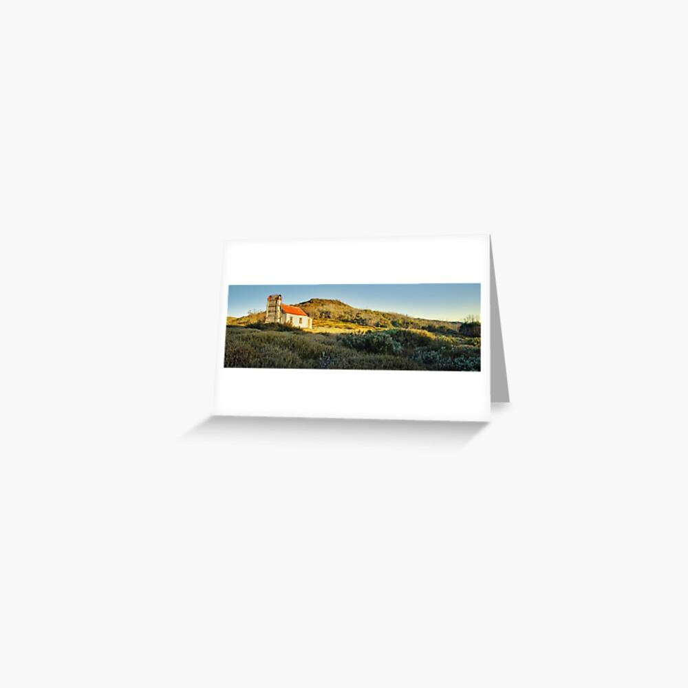 Spargos Hut Dawn, Mount Hotham, Victoria, Australia Greeting Card
