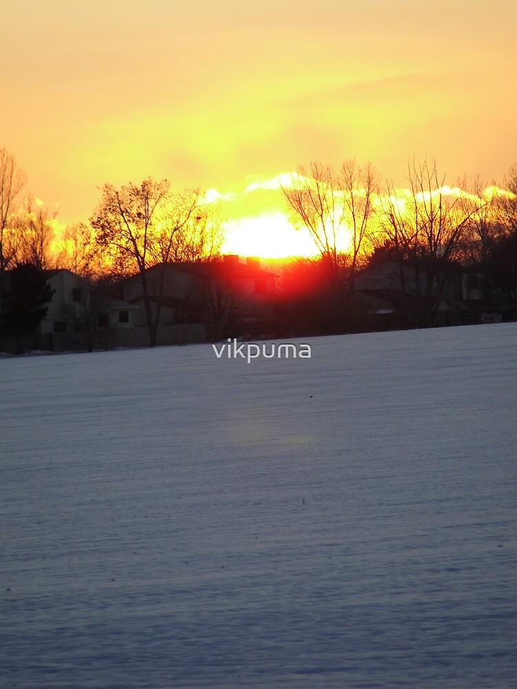 Sunset -Fire and ice by vikpuma