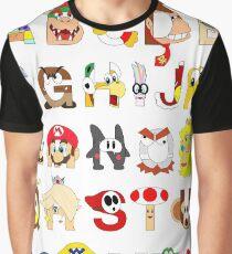 Super Mario Alphabet Graphic T-Shirt