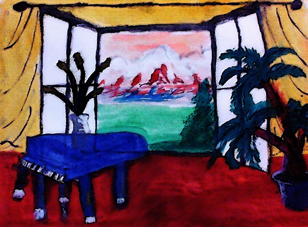 My dream room,,,watercolor by Anna  Lewis, blind artist
