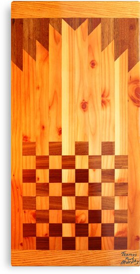 Indian Chess Turkey Table Portrait by Thomas Murphy