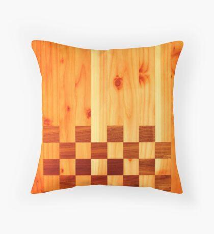 Indian Chess Turkey Table Portrait Throw Pillow