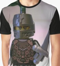 Dragon Knight Minifigure with Scale Mail with Chains, Helmet Closed, & green plume  Graphic T-Shirt