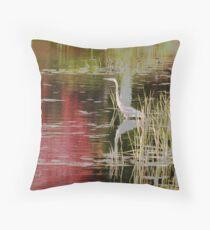 Blue Heron Autumn Muskoka Throw Pillow