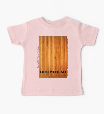 Official Curb Wood Art T shirt Kids Clothes