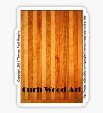 Official Curb Wood Art T shirt Sticker