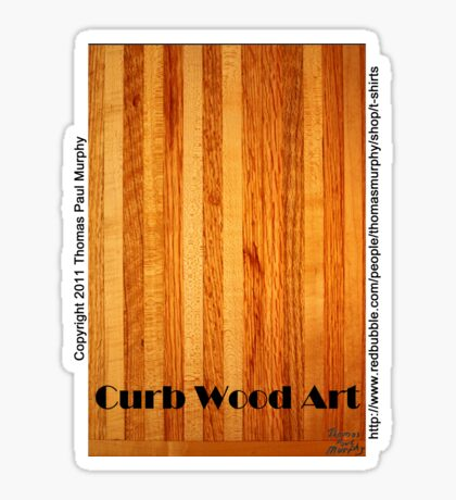 Official Curb Wood Art T shirt Sticker