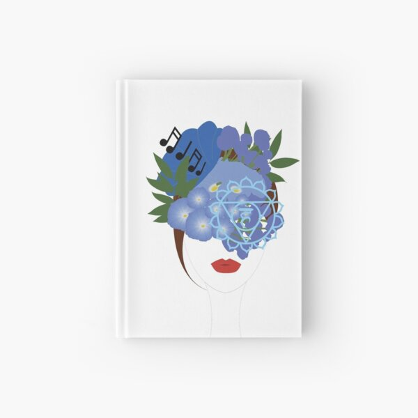 Blooming Throat Chakra Hardcover Journal