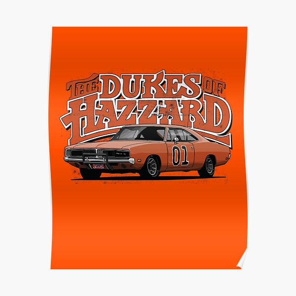The Dukes of Hazzard / Dodge Charger / General Lee Poster