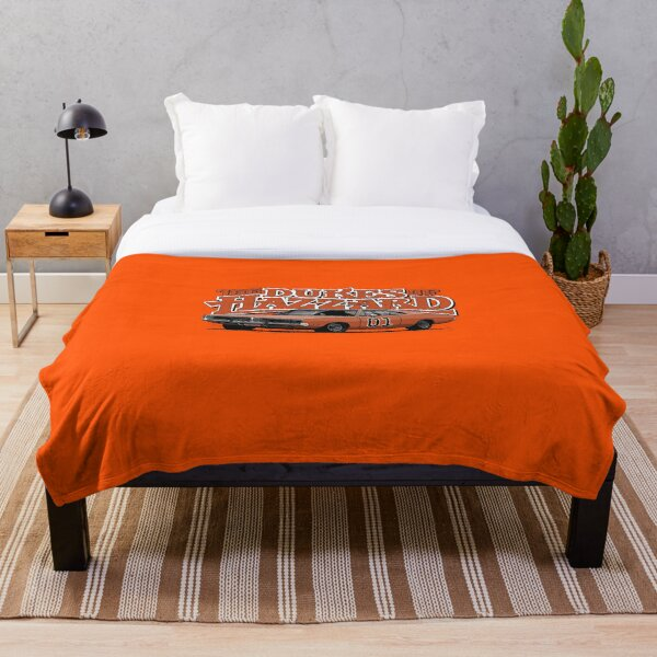The Dukes of Hazzard / Dodge Charger / General Lee Throw Blanket