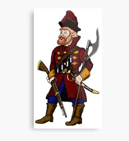 Russian Strelets (musketeer) cartoon drawing art Metal Print