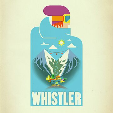 """Blue Bird"" Whistler Village iPhone case by Tueros"