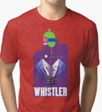 """Full Moon"" Whistler Village Shirt Tri-blend T-Shirt"